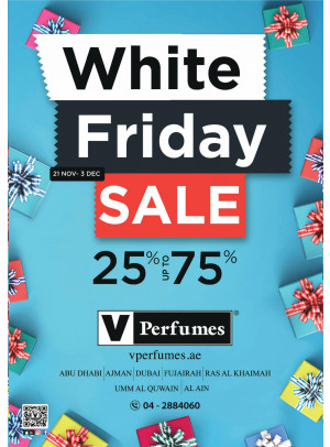 White Friday Sale 25% To 75%