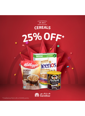 25% Off on Cereals