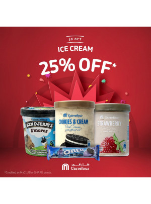 25% Off on Ice Cream
