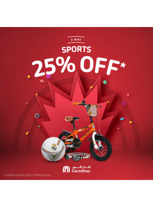 Wow Sale 25% on Sports Equipment