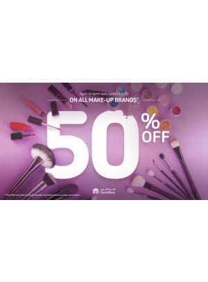 50% Off on All Make-up Brands