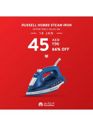 66% Off on Russell Hobbs Steam Iron
