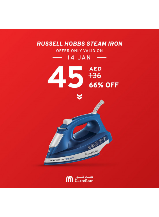 66% Off on Russell Hobbs Steam Iron