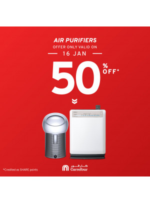 50% Off on Air Purifiers