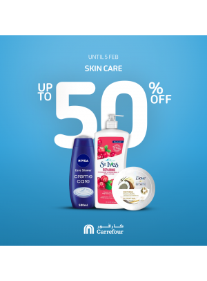 Up To 50% on Skin Care Products