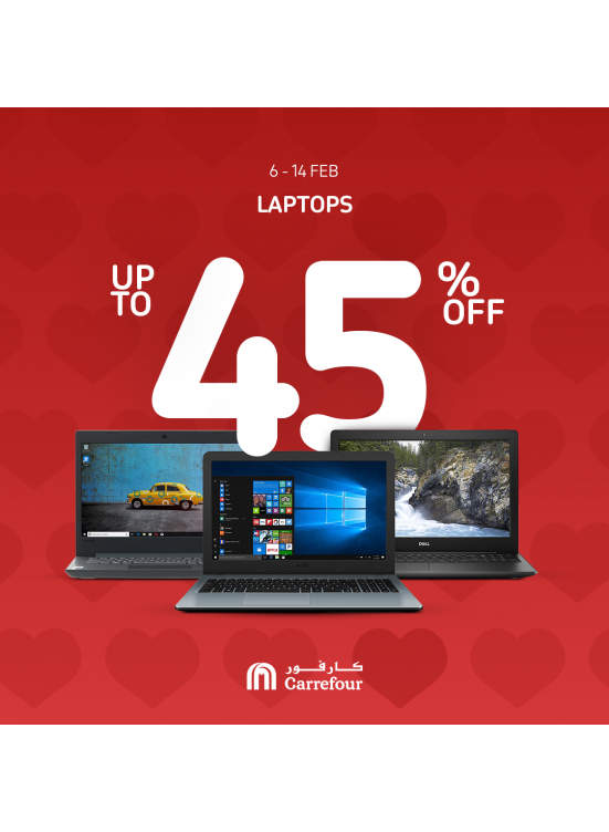 Up To 45% Off on Laptops