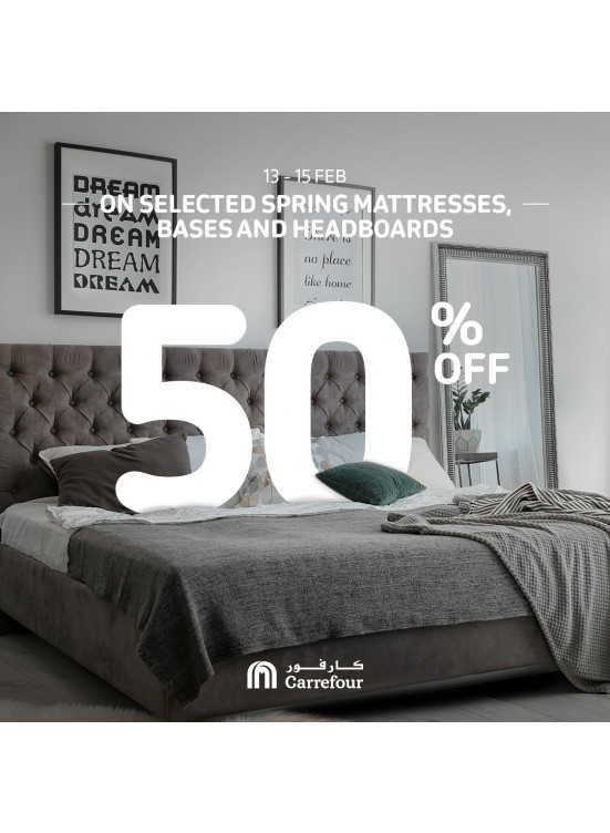 50% Off on Spring Mattresses