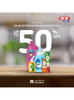 Up To 50% OFF on Household Essentials
