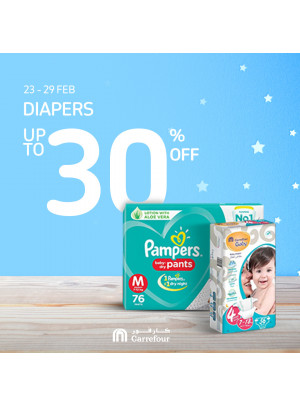 Up To 30% Off on Diapers