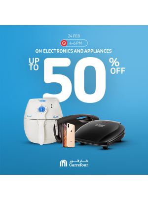 Up To 50% Off on Electronics & Appliances