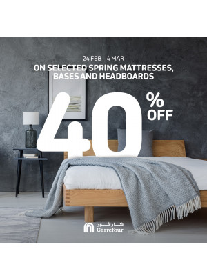40% Off on Spring Mattresses