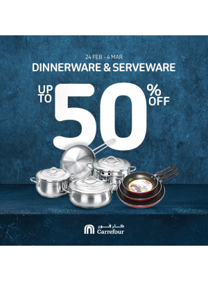 Up To 50% Off on Dinnerware & Serveware