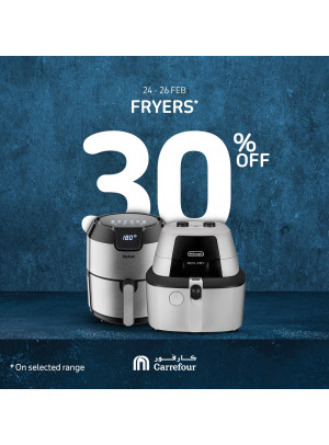 30% Off on Fryers
