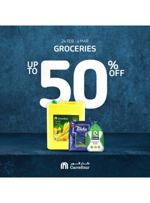 Up To 50% Off on Groceries