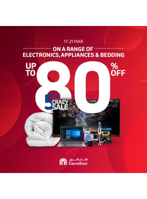 Up To 80% Off on a Electronics, Appliances & Bedding