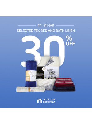 30% Off on Tex Bed and Bath Linen