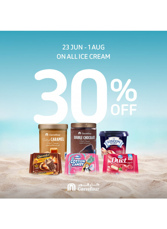 30% Off on All Ice Cream