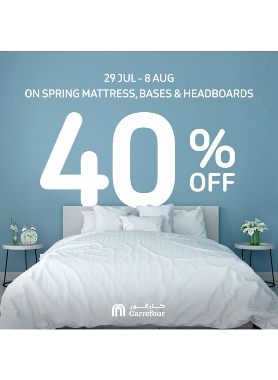 Big Sale 40% Off on Spring Mattresses
