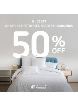 Wow Sale 50% Off on Spring Mattresses