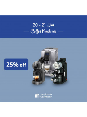 25% Off on Coffee Machines