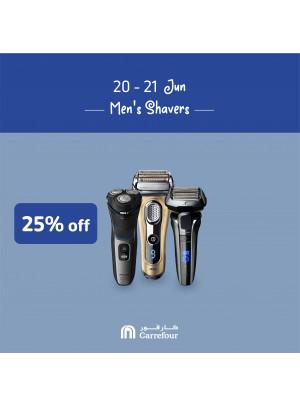 25% Off on Men's Shavers