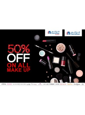 50% OFF on all make up brands