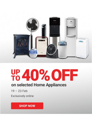 Up To 40% Off on Home Appliances