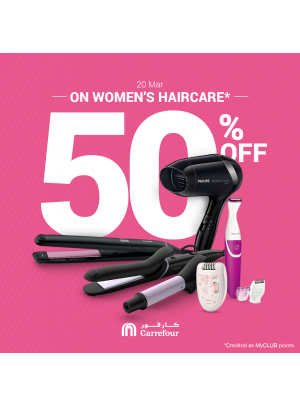 50% Off on Haircare Products