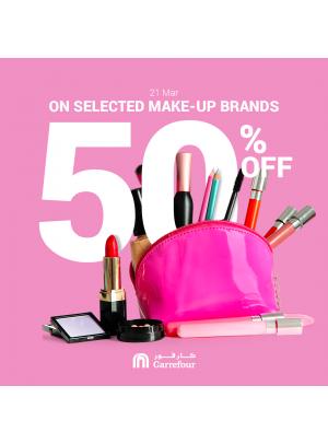 50% Off on Makeup Brands