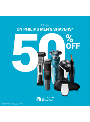 50% Off on PHILIPS Men's Shavers