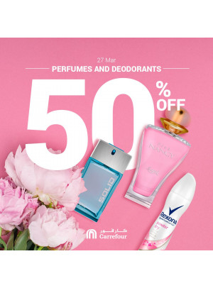 Up To 50% Off on Perfumes & Deodorants