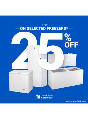 WoW Sale 25% Off on Freezers