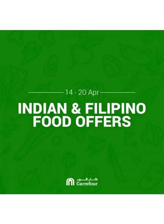 عروض الطعام الهندي والفلبيني