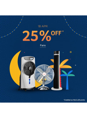 25% Off on Fans