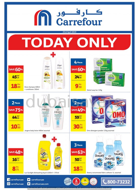 Today Only Offer from Carrefour until 23rd April - Carrefour
