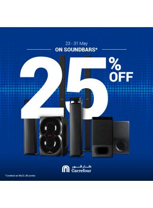 25% OFF on Soundbars