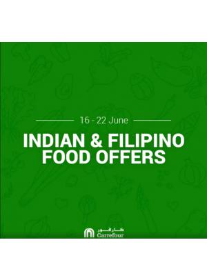 عروض الطعام الطازج الهندي والفلبيني