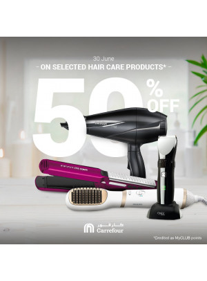 50% Off on Hair Care Products