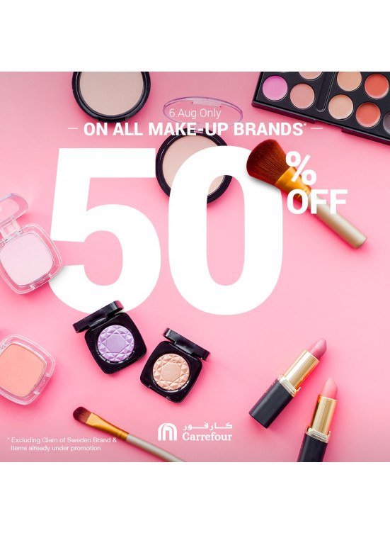 50% Off on All Make-up Brands