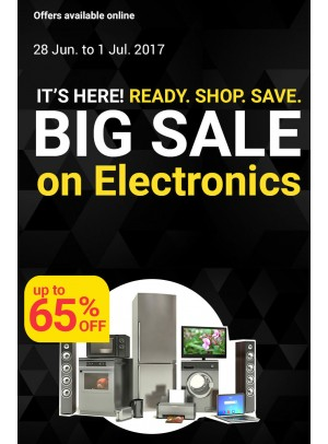 Big Sale - 65% OFF on Electronics