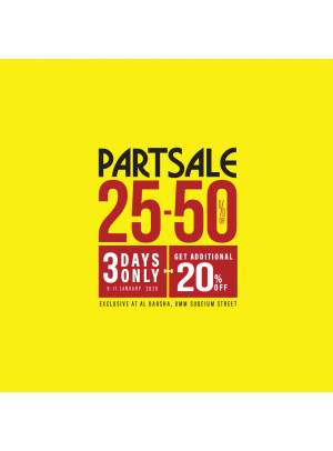 Part Sale 25% - 50% - Additional 20% Off