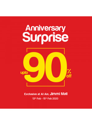 Anniversary Surprises Up To 90% Off - Al Jimi Mall, Al Ain