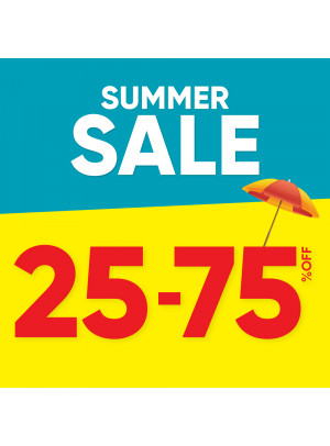 Summer Sale 25 - 75% Off