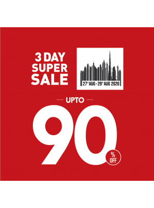 3 Day Super Sale - Up To 90% Off