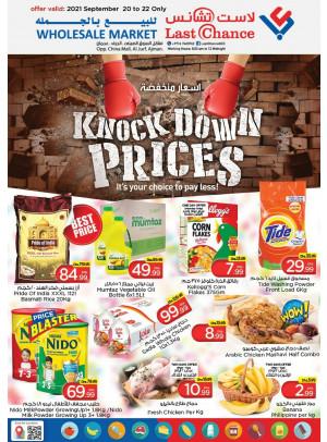 Knock Down Prices