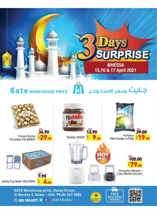 3 Days Surprises - Hessa, Dubai