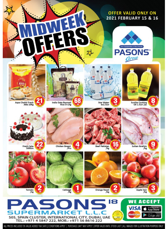 Midweek Offers - Pasons 18 Supermarket