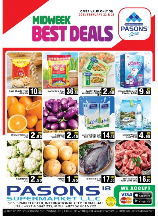 Midweek Best Deals - Pasons 18 Supermarket