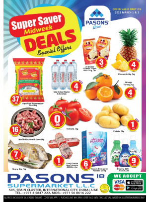 Midweek Super Saver - Pasons 18 Supermarket