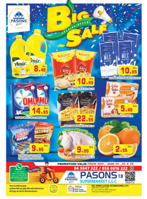 Big Sale - Pasons 18 Supermarket